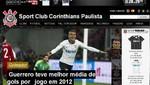 Paolo Guerrero tiene el mejor promedio de gol del Corinthians