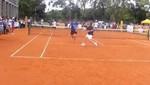 Mauricio Macri le dio un pelotazo a Andy Roddick [VIDEO]