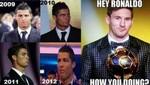 'Memes'  de Cristiano Ronaldo por no recibir el Balón de Oro invaden Internet [FOTOS]
