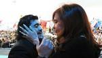 Maradona admite ser admirador de Cristina Kirchner