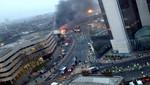 Londres: helicóptero chocó con grúa dejando 2 muertos y 9 heridos [VIDEO]