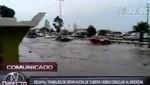 Panamericana Sur: se inunda Km 17 tras colapso de desagüe [VIDEO]