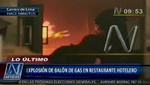 Centro de Lima: explosión de balón de gas en restaurante deja 3 heridos [VIDEO]