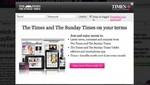 Diario The Times lanzó una aplicación web para tablets