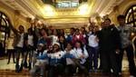 Niños del VRAE visitaron Palacio de Gobierno