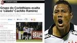 Prensa brasileña elogia a 'Cachito' Ramírez tras su gol
