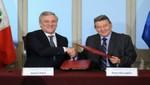 El Perú y la Unión Europea firman cinco acuerdos en Cancillería