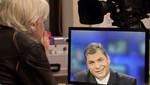 Rafael Correa si gana las elecciones: asilo a Julian Assange se mantendrá