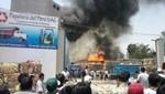 San Juan Lurigancho: incendio convierte en cenizas fábrica de papel [VIDEO]