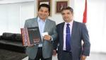 Embajador de España en el Perú, Juan Carlos Sánchez, realizó una visita protocolar al alcalde de San Miguel, Dr. Salvador Heresi