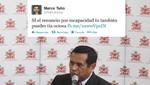 Marco Tulio Gutiérrez a Susana Villarán: tía ociosa, si el Papa renunció tú también puedes