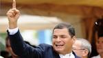 Rafael Correa llora y agradece a pueblo ecuatoriano