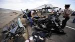 Tres muertos deja accidente en la Panamericana Sur