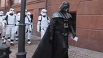 ¿Darth Vader intentó entrar a la sede del Ministerio de Justicia de Ucrania? [VIDEO]