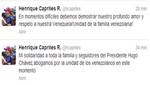Henrique Capriles: 'en estos momentos difíciles (los venezolanos) debemos mantenernos unidos'