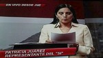 Patricia Juárez: 'Fui retirada del debate'