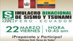 Anuncian Simulacro Binacional de Sismo y Tsunami Perú - Ecuador