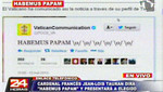 El vaticano anunció primero por Twitter el nombre del nuevo Sumo Pontífice