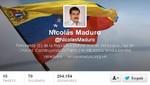 Nicolás Maduro abre su cuenta en Twitter