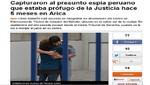 Chile: capturan a espía peruano que tomó fotos del Ejército