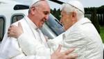 Papa Francisco se reúne con Benedicto XVI [VIDEO]