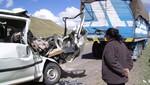 Ica: mueren dos niños y siete adultos tras choque entre minivan y tráiler [VIDEO]