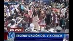 Semana Santa: miles de personas presencian vía crucis en Ayacucho [VIDEO]