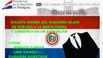 Anonymous atacó portales gubernamentales en Paraguay