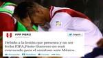 Paolo Guerrero no será convocado para el partido ante México