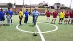 Alcalde Salvador Heresi inaugura nuevo campo deportivo en San Miguel