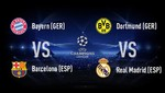 Semifinales de Champions League: Bayern vs Barcelona y Dortmund vs Real Madrid