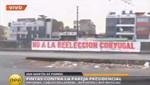 Pintas de oposición a la candidatura de Nadine Heredia en el 2016 aparecen en paredes de Lima