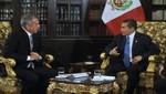 Presidente Ollanta Humala concede entrevista a los periodistas Nicolás Lucar y David Rivera