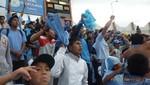 Cusqueños festejan en las calles el triunfo del Real Garcilaso en el Centenario de Montevideo ante el Nacional