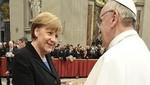 Papa Francisco y Angela Merkel conversaron en audiencia privada sobre la situación en Europa