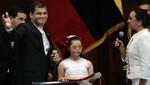 Rafael Correa juró por un nuevo mandato que concluirá en 2017