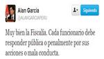 Alan García felicita a la Fiscalía por la detención de Miguel Facundo Chinguel