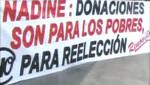 Renov@r manifiesta una vez más con pancartas contra la llamada 'Reelección Conyugal' en puentes de la Vía Expresa
