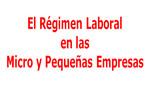 El Régimen Laboral en las Micro y Pequeñas Empresas