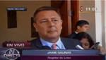 El pedido de vacancia contra Jaime Salinas no propsperó, seguirá siendo regidor de Lima