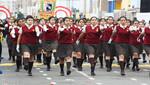 Colegios de San Miguel se lucen durante desfile patriótico
