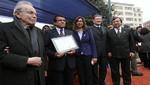 Javier Pérez de Cuéllar entregó hoy 14 de julio Premio de Derechos Humanos de la Embajada de Francia