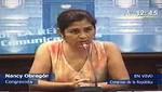 Daniel Abugattás aun cree en la ex parlamentaria Nancy Obregón