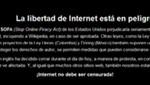 Wikipedia protesta contra la Ley SOPA: La libertad de Internet está en peligro