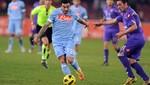 Con el 'Loco' en la cancha Fiorentina cayó 3-0 ante el Nápoli