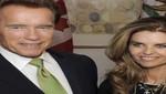 Arnold Schwarzenegger y Maríia Shriver se encuentran en una fiesta