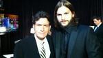 Charlie Sheen y Ashton Kutcher se encontraron durante los Emmy