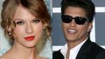 Taylor Swift quiere cantar junto a Bruno Mars