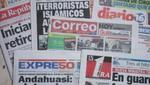Vea las portadas de los principales diarios peruanos para hoy domingo 18 de diciembre