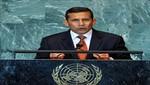 Ollanta Humala partió hacia EEUU para participar en la Asamblea General de las Naciones Unidas